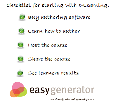 checklist for starting with e-Learning