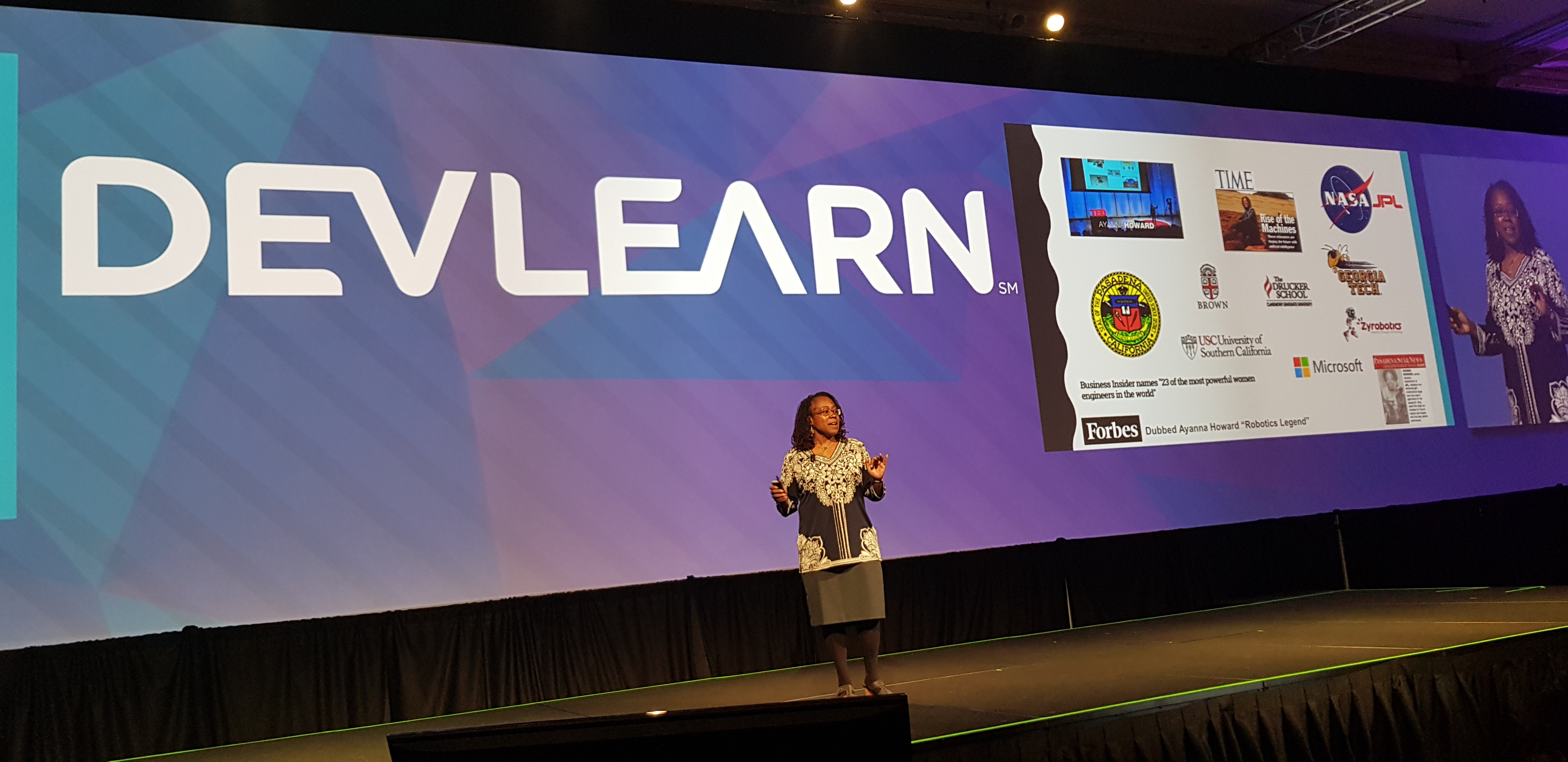 Ayanna Howard on the DevLearn stage